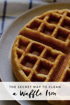 The Secret Way to Clean a Waffle Iron via @PureWow