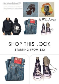 """""""-A-"""" by silkaperez ❤ liked on Polyvore featuring Levi's, Converse, men's fashion, menswear, band, ConcertOutfit and awillaway"""