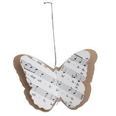 Vintage decorations - butterflies music