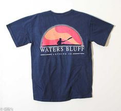 Waters Bluff Paddler T-Shirt for Men in True Navy SSTPD