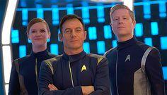 Cadet Tilly, Captain Lorca, Lieutenant Stamets (courtesy EW)
