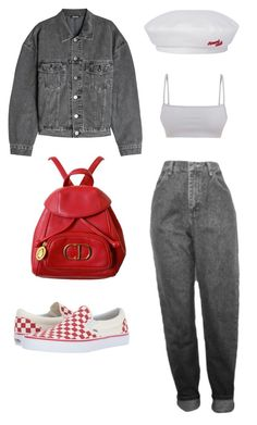 """""""Untitled #1080"""" by daniellexoxo196 ❤ liked on Polyvore featuring Christian Dior, Vans and Yeezy by Kanye West"""