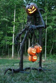 Pumpkin man Garden Sculpture
