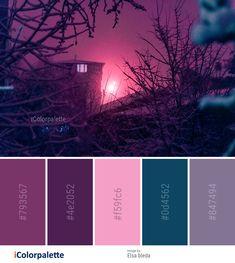 Color Palette Ideas from Sky Purple Branch Image Color Schemes Colour Palettes, Colour Pallette, Color Palate, Color Combos, Purple Color Schemes, Purple Paint Colors, Peacock Color Scheme, Jewel Tone Colors, Couleur Html