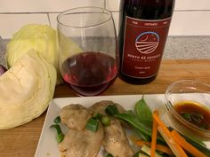 North 42 Degrees Estate Winery 2019 Gamay Noir with Pork Dumplings. Dumpling Dough, Dumplings, Happy Cook, Dough Ingredients, Essex County, Napa Cabbage, Complete Recipe, 1 Pound, Fresh Ginger