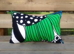 14 x 20 Pillow cover made from Marimekko fabric by NordicCrafter