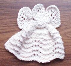 Tina's Knit Dishcloth Angel - Love2Knit_Dishcloths