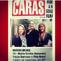 Na Revista CARAS desta semana, Edição 1069, com Maria Emília Genovesi et Rita Maluf !!!