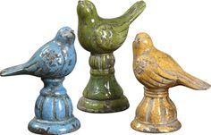 Uttermost Bird Trio Ceramic Figurines, Set/3 19705