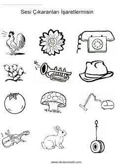 Sesli Sessiz Kavramı, loud quiet worksheets and coloring pages