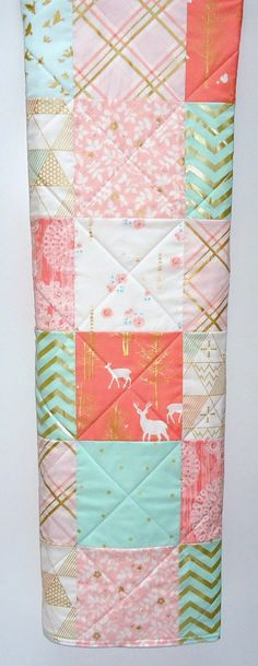 Modern Baby Girl by NowandThenQuilts on Etsy