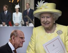 The Queen, Philip, Harry, Kate and Will attend birthday celebrations at St Paul's