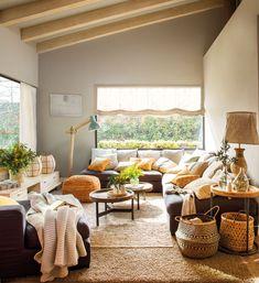 Low Budget Home Decoration Ideas Home Living Room, Living Room Decor, Design Case, Dream Decor, Living Room Inspiration, Cozy House, Sweet Home, House Design, Interior Design