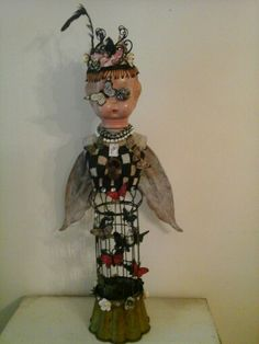 Madame butterfly Steampunk cage doll