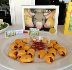 Love this idea!! Food and decor all related to books!   Storybook lunch baby shower