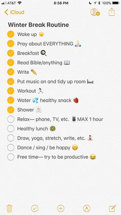 I try to keep a routine and it helps me get things done throughout the day...