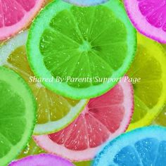 Lemons soaked in food coloring [or you could use diluted jello mix] ... perfect garnish for fruit platters, in punch ... awesome summer idea!