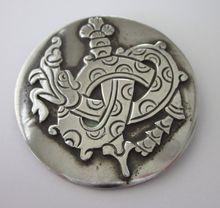 Signed William Spratling 1930's 980 Silver Serpent  Brooch, 46.5 Grams, Shop Rubylane.com