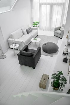 Browse through images of inspiring Minimalist living room design ideas to create your perfect home. Simple Living Room, Living Room Grey, Home Living Room, Living Area, White Heaven, Estilo Interior, Family Room Design, Scandinavian Home, Home And Deco