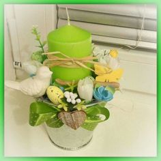 Bird Cage Centerpiece, Centerpieces, April Easter, Topiary, Easter Crafts, Paper Flowers, Floral Arrangements, Diy Crafts, Spring