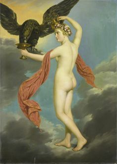 Hebe with Jupiter in the Guise of an Eagle by Gustav-Adolphe Diez. 1820-1826, oil on canvas