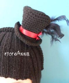 Mini cappello cilindro all uncinetto!!! Mini crochet hat!!! ec65d450e532