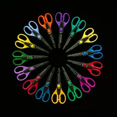 Crafting scissors, I never knew there were so many different kinds.   Pinking shears were exotic for me when I was young.