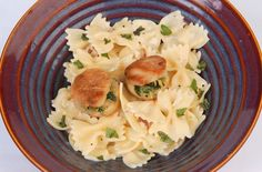 Recipe: Basil-stuffed scallops with creamy bow tie noodles is this week's 30-Minute Miracle.