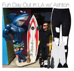 """""""Fun Day Out in LA w/ Ashton"""" by vane-abreu ❤ liked on Polyvore featuring Athleta, Cosabella, Acne Studios and H&M"""