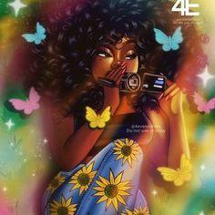 Black Love Art, Black Girl Art, Black Is Beautiful, Black Art Painting, Black Artwork, Girl Smoking Art, Black Girls Pictures, Black Women Quotes, African Art Paintings