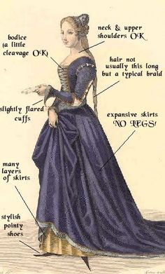 The perfect medieval gown