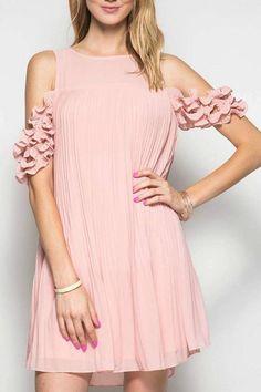 She + Sky Pleat Perfection Dress
