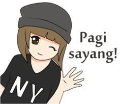 Meme Stickers, Cartoon Stickers, Cartoon Jokes, Girl Cartoon, Happy Birthday In Spanish, Cute Drawings Of Love, Short Couples, Islamic Cartoon, Anime Muslim