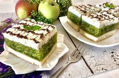 Ciasto Zielone Jabłuszko Pyszne i bardzo efektowne ciasto na lekkim biszkopcie,... - #bardzo #biszkopcie #ciasto #efektowne #Jabłuszko #lekkim #na #pyszne #uszko #zielone Polish Cake Recipe, My Favorite Food, Favorite Recipes, Vegan Junk Food, Vegan Sushi, Watercolor Food, Vegan Smoothies, Just Cakes, Vegan Kitchen