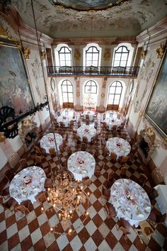Schloss Leopoldskron in Austria. Here we used to have breakfast, lunch dinner..