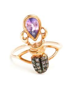 DANIELA VILLEGAS | Kephri 18k Rose Gold and Sapphire Ring