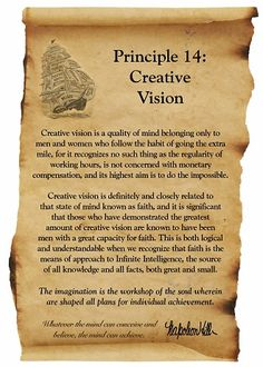 Napoleon Hill Foundation Creative Vision scroll