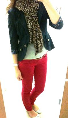 I love this outfit. I've had my eye on red pants from torrid for a while now. Maybe I'll pick them up now.