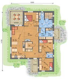 Mallistot : Talopaketit - Valmistalot, tässä paljon sellaista, joka on ollut mielessä House Layouts, My House, House Plans, Floor Plans, Cottage, Flooring, How To Plan, Dream Houses, Building