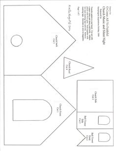 Above are the patterns for the cardboard Church. Description from kimraenugent.blogspot.com. I searched for this on bing.com/images