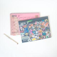 Mark's Original Notebook Calendar Story: switching from 2013's notebook calendar to a 2014 version