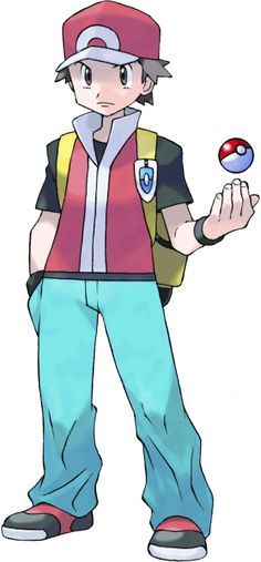 A fan art of Pokemon Trainer Red in color Copyrights of Pokemon and all related characters belongs to Nintendo & Gamefreak Pokemon Team, Type Pokemon, Pokemon Trainer Kostüm, Pokemon Fire Red, Old Pokemon, Pokemon Sun, Pokemon Games, Green Pokemon, Pokemon Manga
