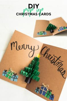 DIY Pop Up Christmas Cards - Sweet Some of the links in this post may be affiliate links which I can earn a small commission off if you click and purchase the item, at no extra cost to you. Pop Up Christmas Cards - Christmas Tree Card - Sweet Teal Pop Up Christmas Cards, Christmas Card Crafts, Homemade Christmas Cards, Christmas Holiday, Reindeer Christmas, Christmas Sentiments, Family Holiday, Christmas Card Ideas With Kids, Christmas Ecard