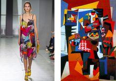 Pop Art Fashion, Funky Fashion, 1950s Fashion, Fashion Prints, Fashion Show, Fashion Design, Fashion Week 2016, Fashion 2018, Cubism Fashion