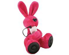 DJ Rabbit a plush iPod holder doubled as a speaker