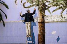 NICE - #Trompel'oeil mural In #Nice #France by the Board walk  http://stampingwithbibiana.blogspot.com/