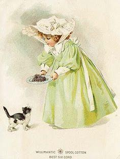 Willimatic Spool Cotton vintage advertising postcard