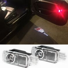 2 stücke LED Türwarnleuchte Projektor Für Q5 A3 A4 B6 B7 B8 A5 A6 C5 C6 A7 A8 Q7 R8 TT B5 Q3 AUDI A4 A4L A6L S LINIE A1 80