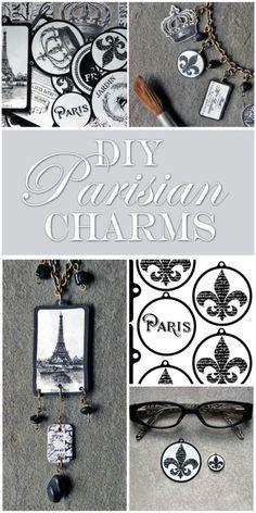 Make Shrinky Dink Charms - Paris Bracelet Project!