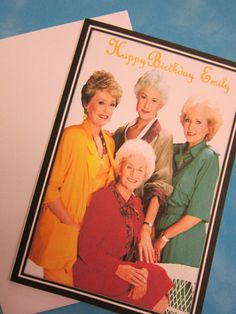 The Golden Girls Birthday Card , Golden Girls gift, The Golden Girls party theme, Be Golden Funny Club, Golden Girls Gifts, Girl Birthday Cards, Custom Cards, Invitations, Etsy, Personalized Cards, Personalised Cards, Save The Date Invitations